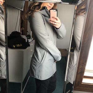 Bench Light Grey Long Soft Shell Hooded Jacket